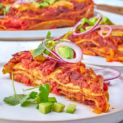 Lasagne de wrap au chili con carne