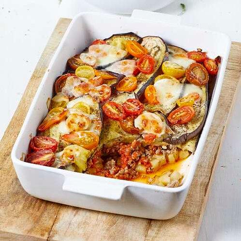 Parmentier d'aubergines et hachis à la méditerranéenne