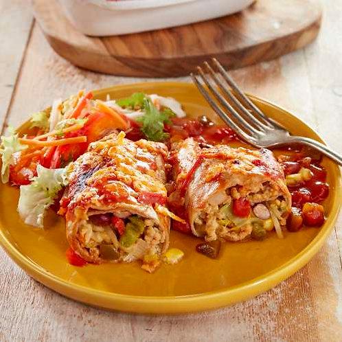 Enchiladas au hachis de poulet