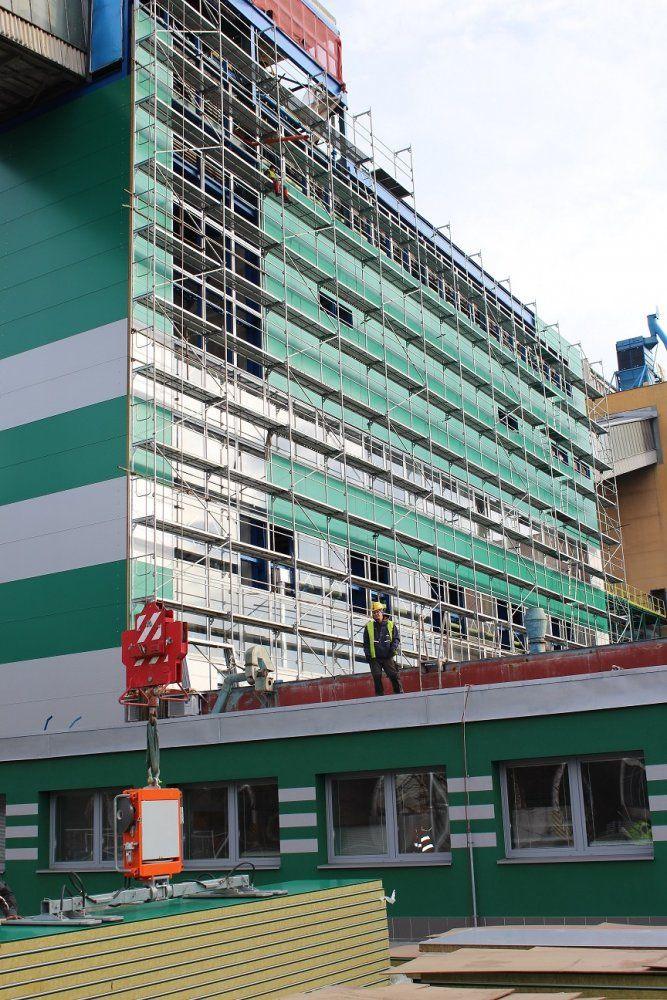 Kotel K8 v průběhu výstavby