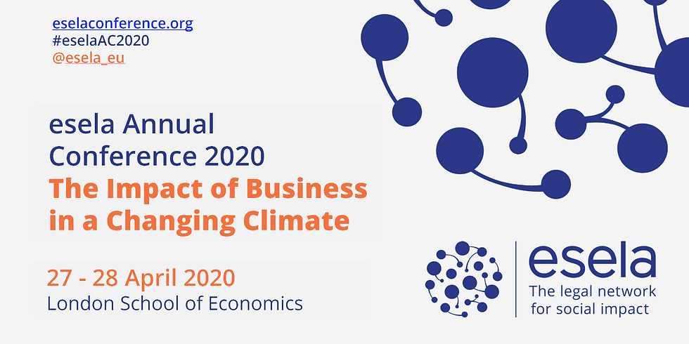 esela Annual Conference 2020: The Impact of Business in a Changing Climate
