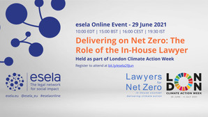 Tickets are open for 'Delivering on Net Zero: The Role of the In-House Lawyer' on 29 June