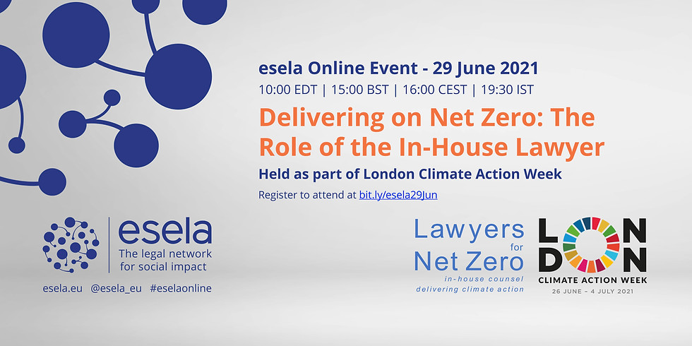 Delivering on Net Zero: The Role of the In-House Lawyer