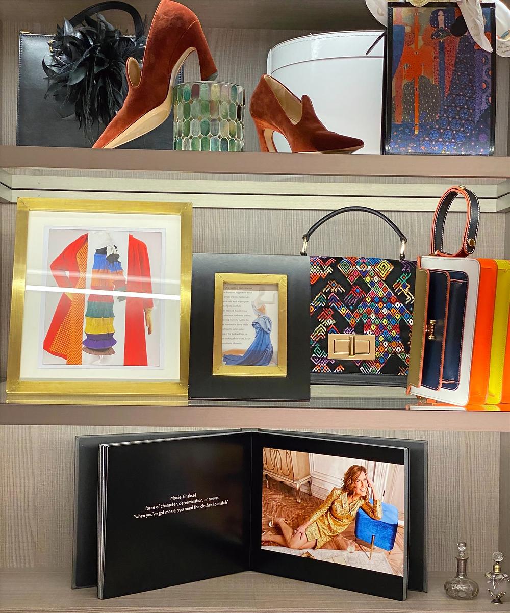 Dawn Mellon decorates Dream Closet.
