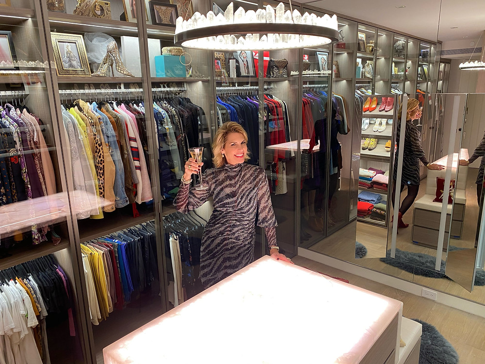 Dawn Mellon The Savvy Stylist showcases her client's Dream Closet