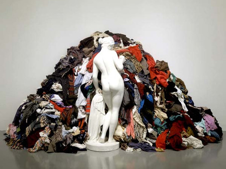Dawn Mellon Imagines Michaelangelo's Pistoletto's Venus Of The Rags As Fashion Muse