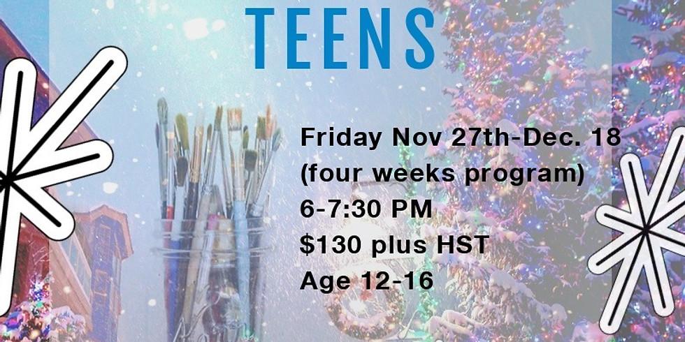Christmas Art program -TEENS Friday
