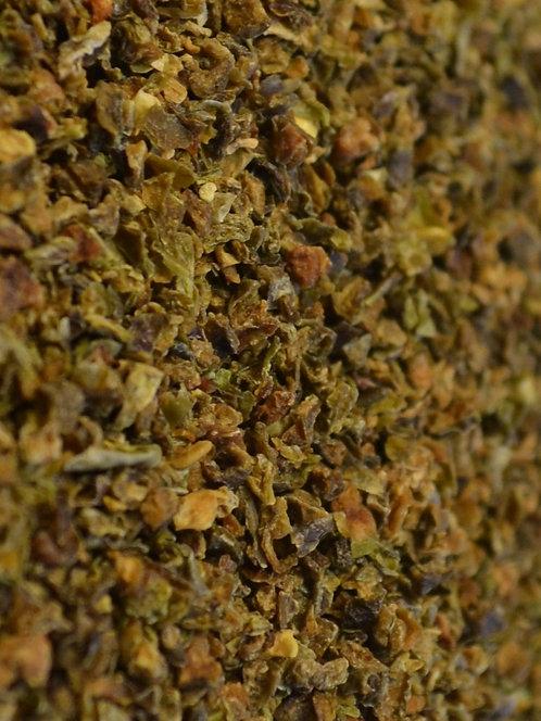 Zaļās paprikas granulas