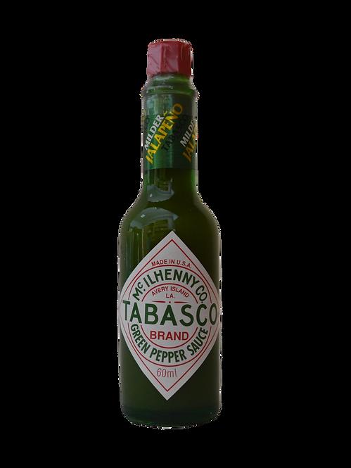 Tabasco, zaļo piparu mērce