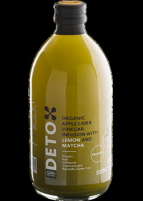 Ābolu sidra etiķis ar citronu un machu Detox