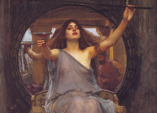 """""""Circe offering the cup to Odysseus"""" by John William Waterhouse"""