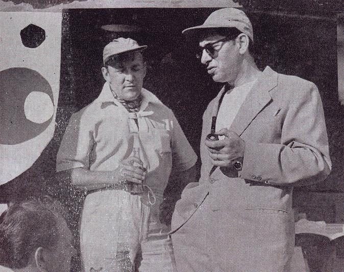 Mike Todd and Thomas Martin 1952