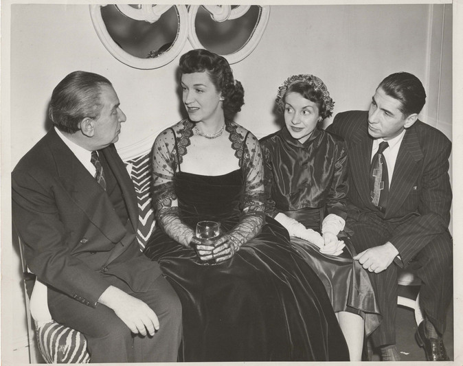 Fritz Reiner and Rise Stevens with the Martins