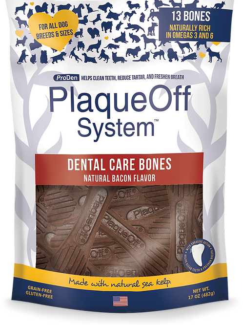 PlaqueOff System™ Dental Care Bones - Bacon
