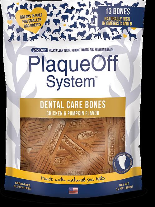 PlaqueOff System™ Dental Care Bones - Chicken & Pumpkin