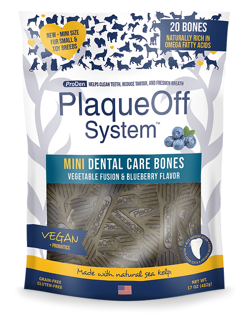 PlaqueOff System™ MINI Dental Care Bones