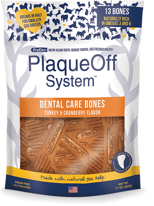 PlaqueOff System™ Dental Care Bones - Turkey & Cranberry