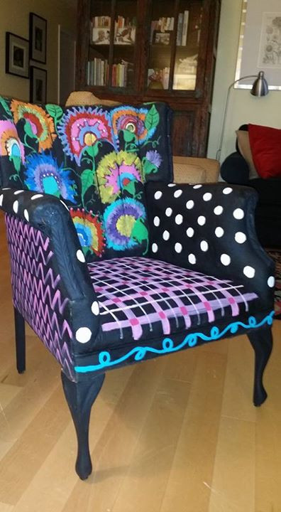 Genial Delight In This Original Hand Painted Repurposed Chair. This One Of A Kind  Creation Will Knock The Socks Off Of Anyone Who Sits In It.