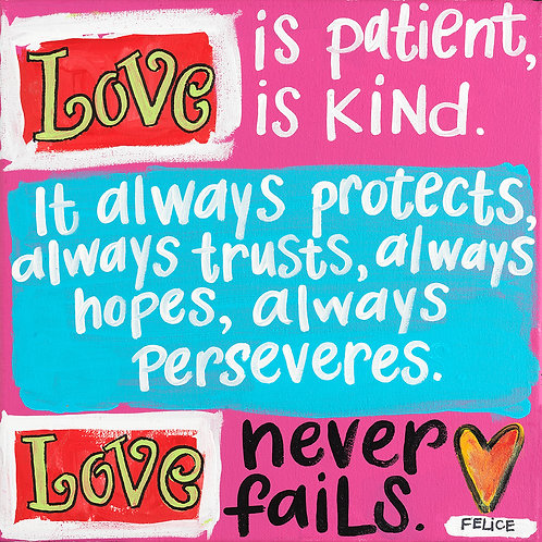 """""""Love is patient..."""" print and notecard"""