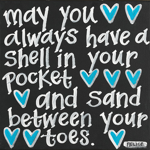 """""""May you always have a shell..."""" print or notecard"""