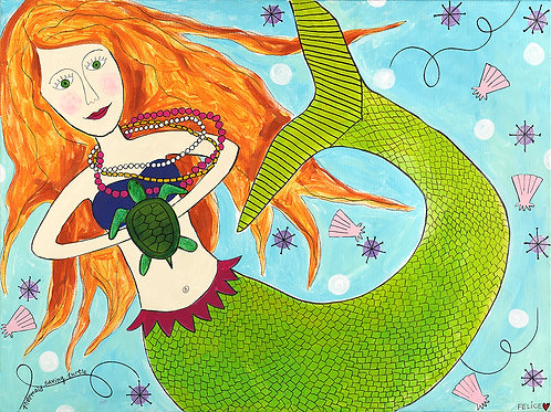 Full body mermaid print and notecard