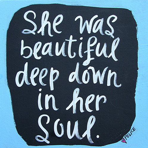 """She was beautiful..."" print or notecard"