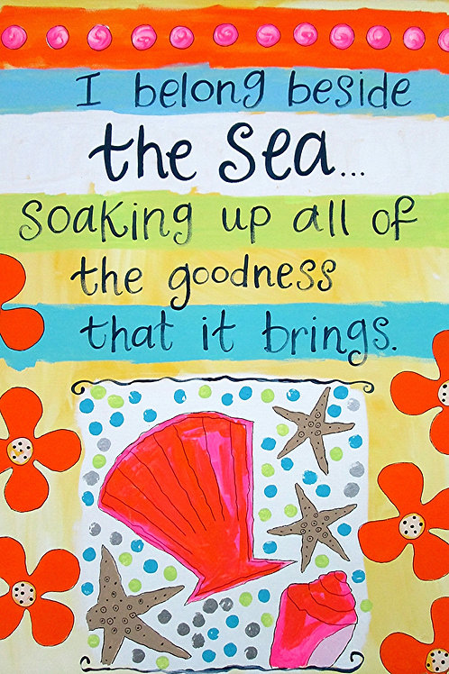 """I belong beside the sea..."" print or notecard"
