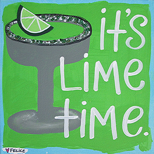 """""""It's Lime Time"""" print or notecard"""
