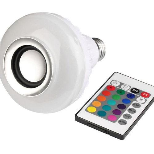 LÁMPARA LED CON PARLANTE BLUETOOTH COLORES RGB