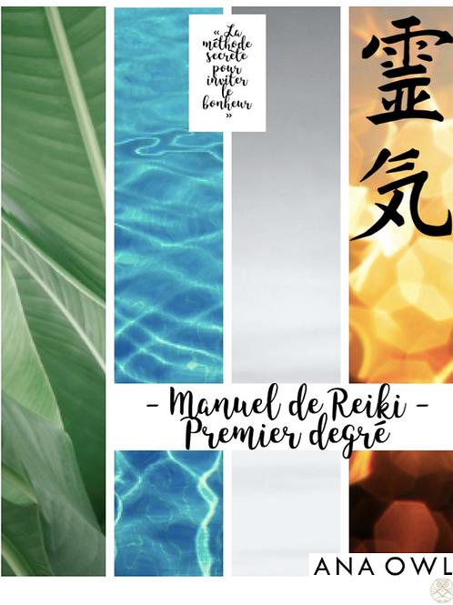 """E-book """"Manuel de Reiki - Degré 1"""""""