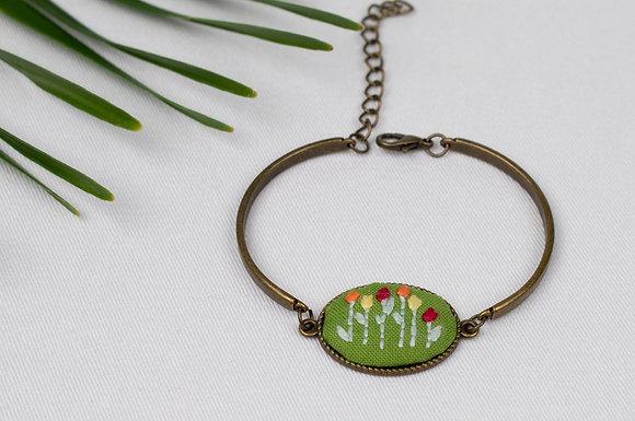 Green Tulip Bracelet