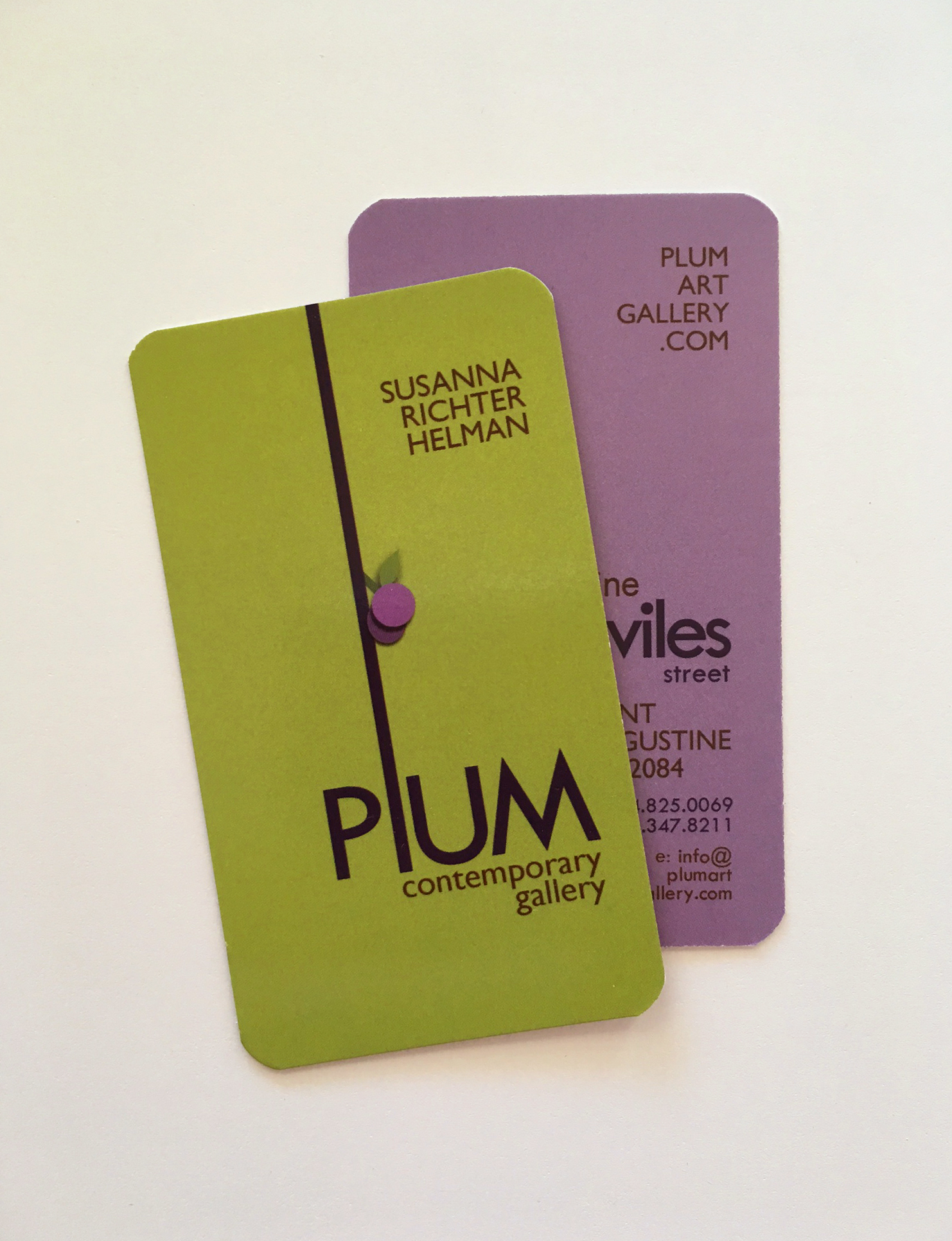 Plum Art Gallery Business Cards
