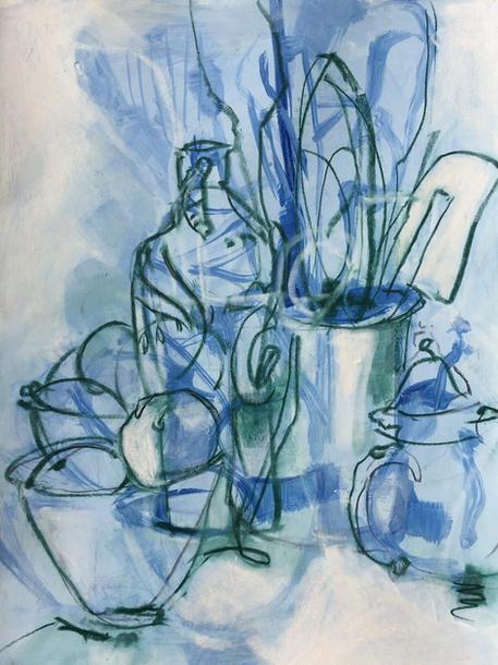 Blue-Green Kitchen Still Life