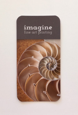 Imagine Fine Art Printing Business card Front