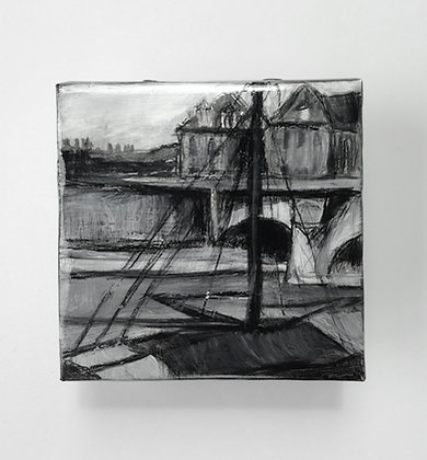 "Seine Boats - 5x5"" study"