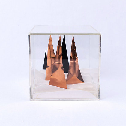 Paper Cube - Cityscape - Vail, Colorado Winter