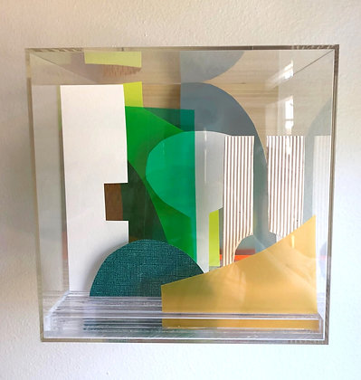 Paper Cube - Green & Yellow