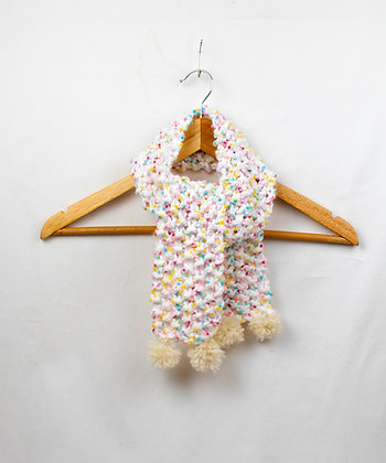 Peppermint Ice Cream Scarf - White Pull Through