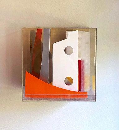 Paper Cube - Orange & Red