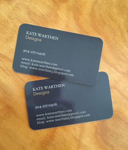 Kate Warthan Business Cards