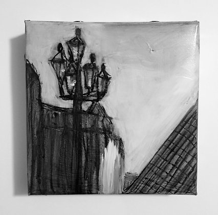 "Louvre - 5x5"" study"