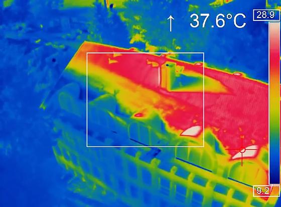 Captura da câmera térmica