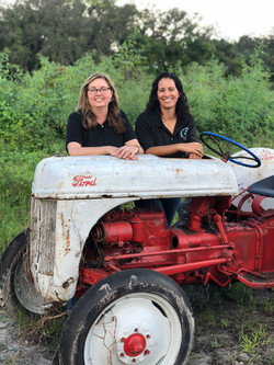 Kim & EM with tractor