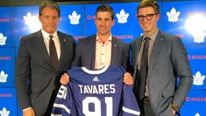 The Toronto Maple Leafs sign star center John Tavares