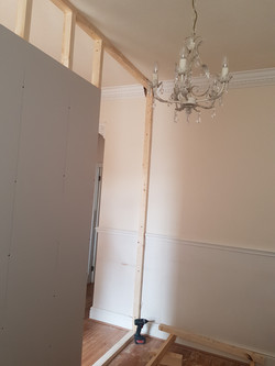 Partition wall, plasterboard