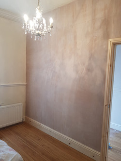 Partition wall, plastered