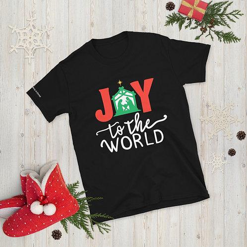 Joy to the World Short-Sleeve Unisex Christmas T-Shirt