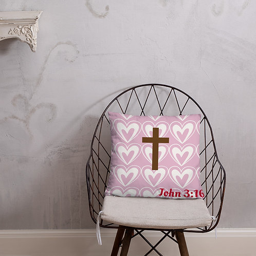 John 3:16 Valentines Day Pillow