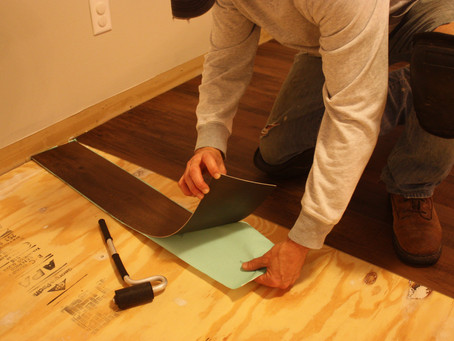 Adhesive Vinyl Planks Installed the Right Way