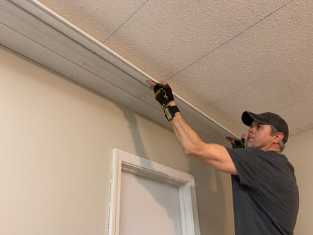 Coming soon: Hang Shiplap from a Ceiling